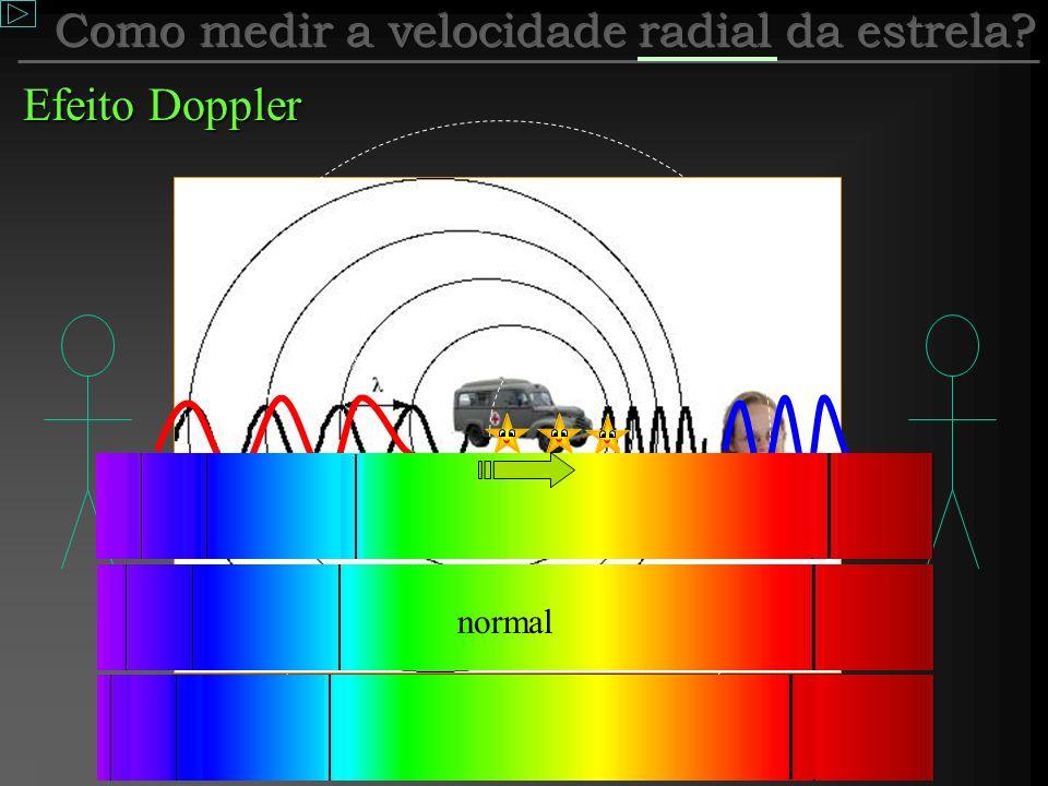 Como medir a velocidade radial da estrela