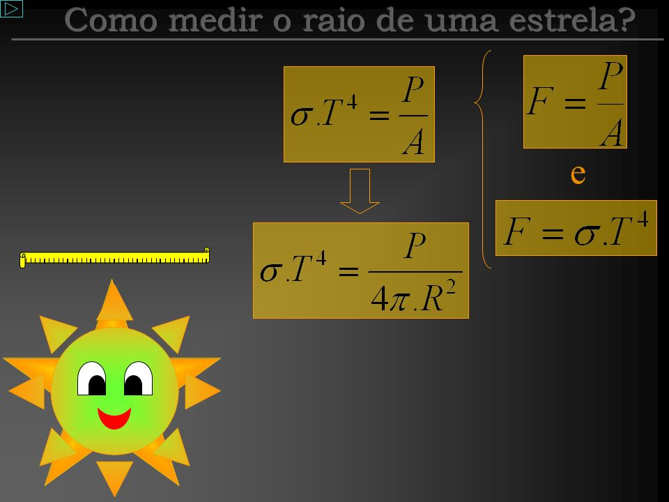 Como medir o raio de uma estrela