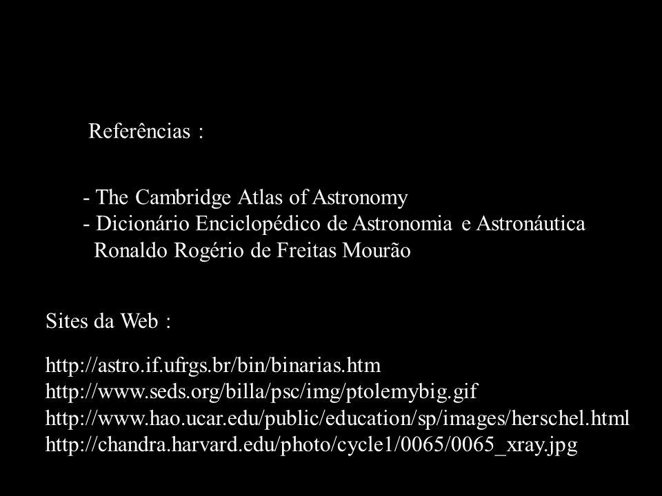 Fim! Referências : - The Cambridge Atlas of Astronomy