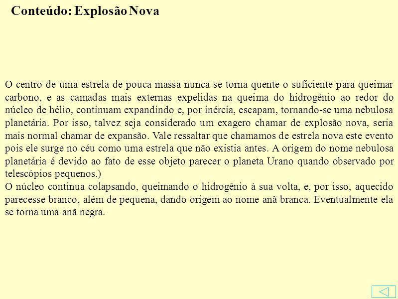 Conteúdo: Explosão Nova