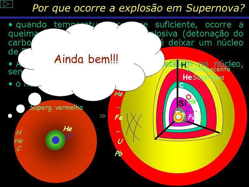 Por que ocorre a explosão em Supernova
