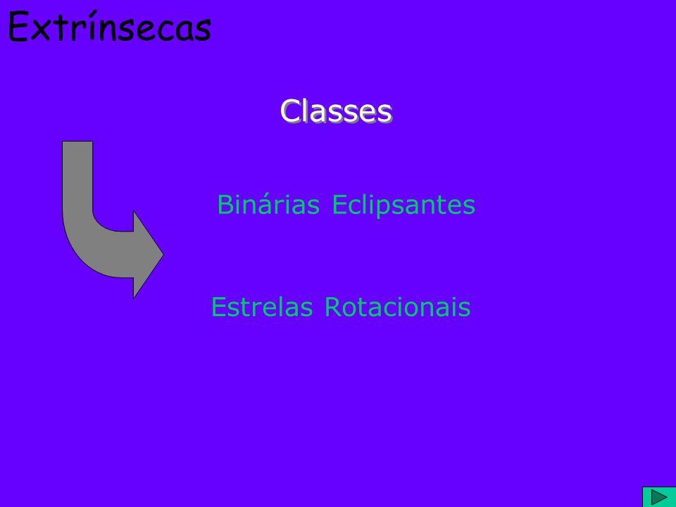 Extrínsecas Classes Binárias Eclipsantes Estrelas Rotacionais