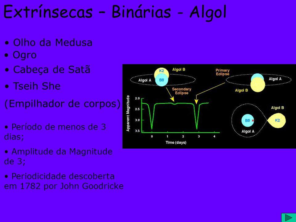 Extrínsecas – Binárias - Algol