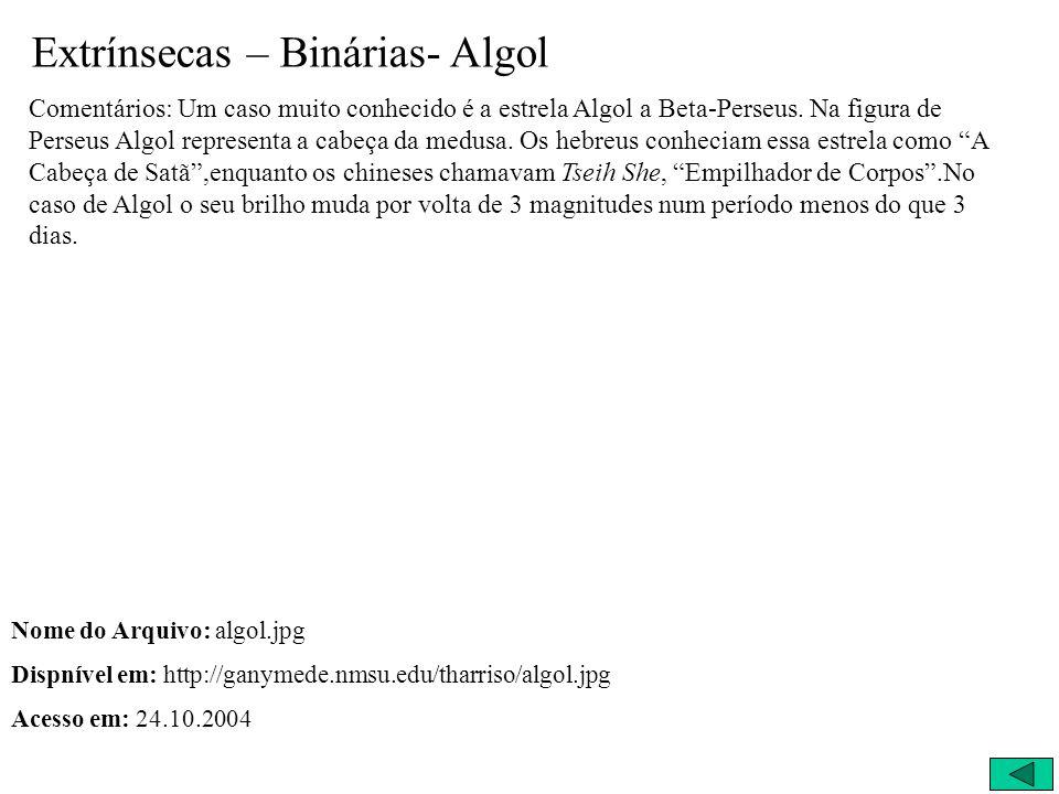 Extrínsecas – Binárias- Algol