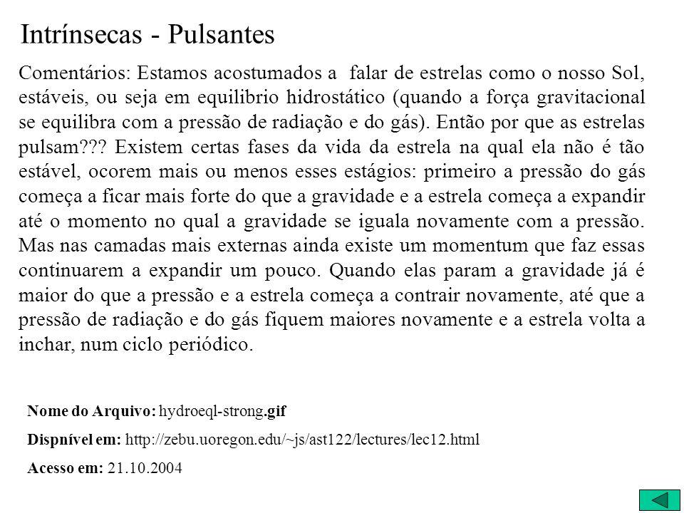 Intrínsecas - Pulsantes
