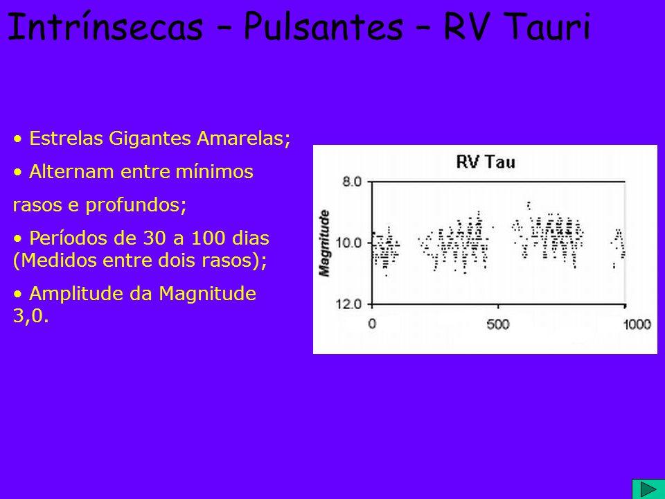 Intrínsecas – Pulsantes – RV Tauri