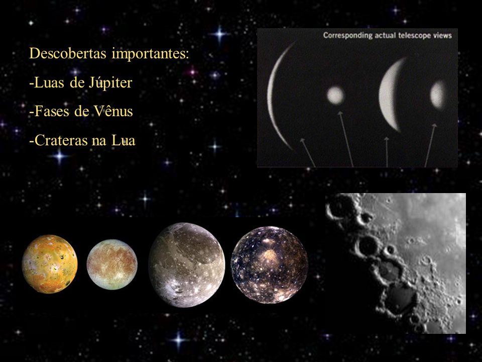 Descobertas importantes: -Luas de Júpiter Fases de Vênus