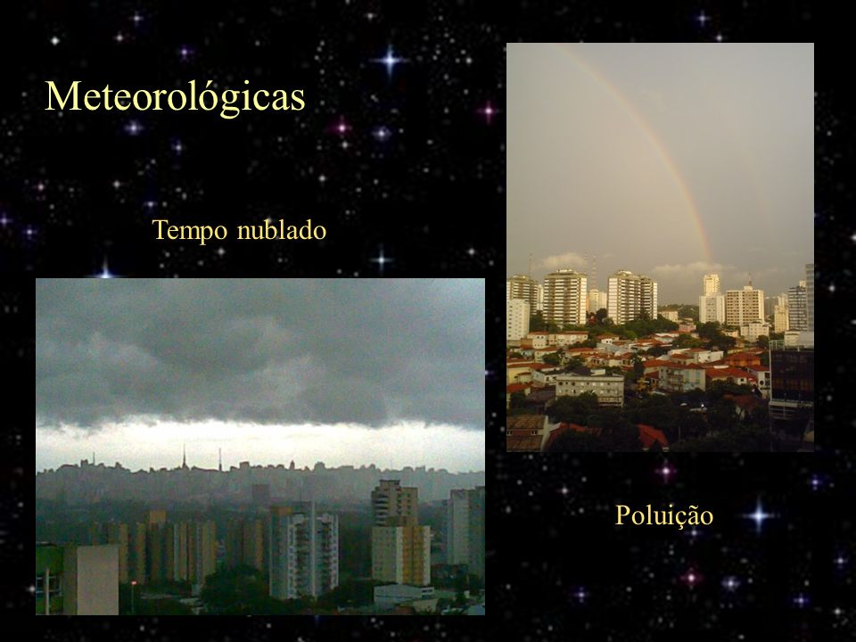 Meteorológicas Tempo nublado Poluição