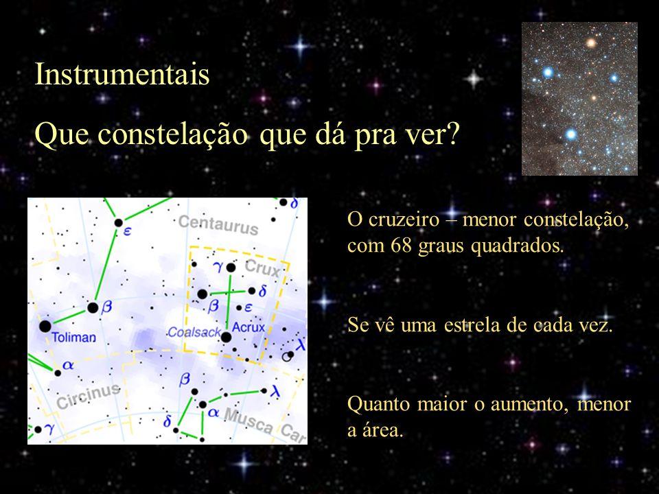 Que constelação que dá pra ver