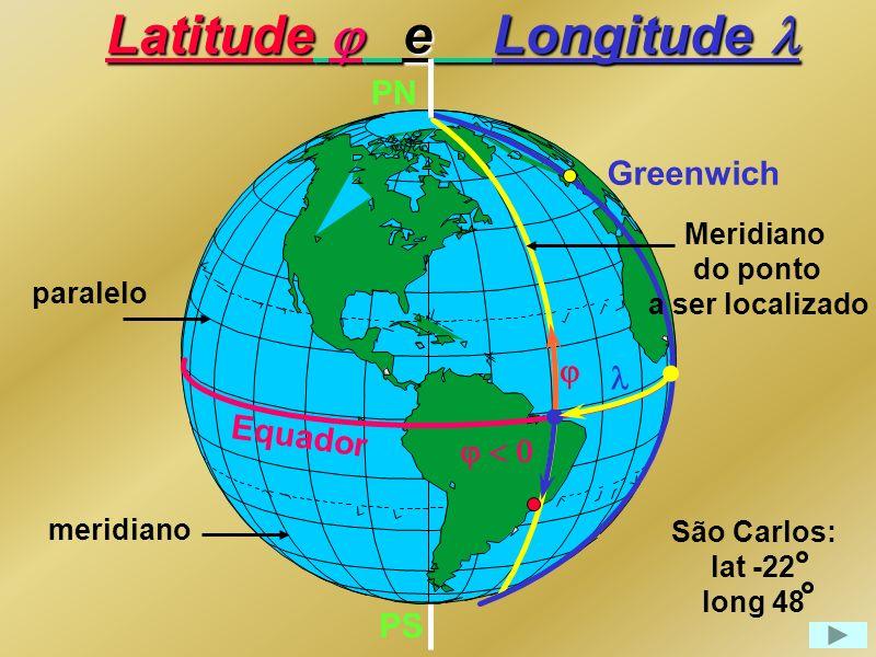 Latitude j e Longitude l