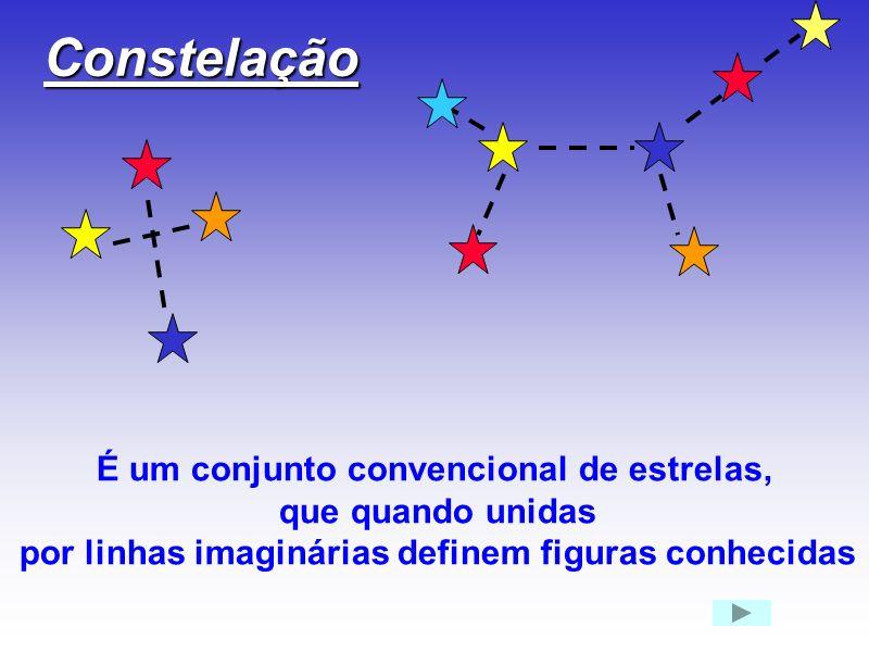 Constelação É um conjunto convencional de estrelas, que quando unidas