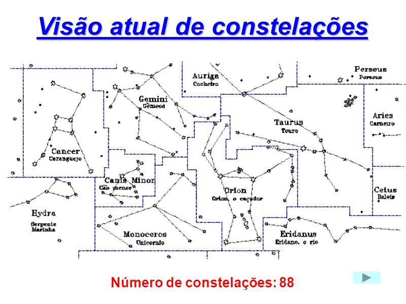 Visão atual de constelações