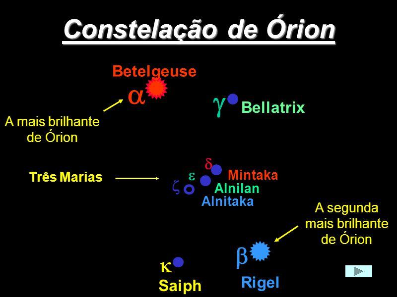 a g Constelação de Órion b k Betelgeuse Bellatrix d e z Rigel Saiph