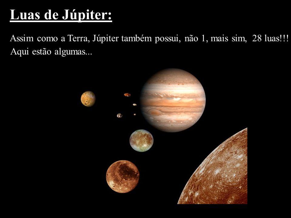Luas de Júpiter: Assim como a Terra, Júpiter também possui, não 1, mais sim, 28 luas!!.