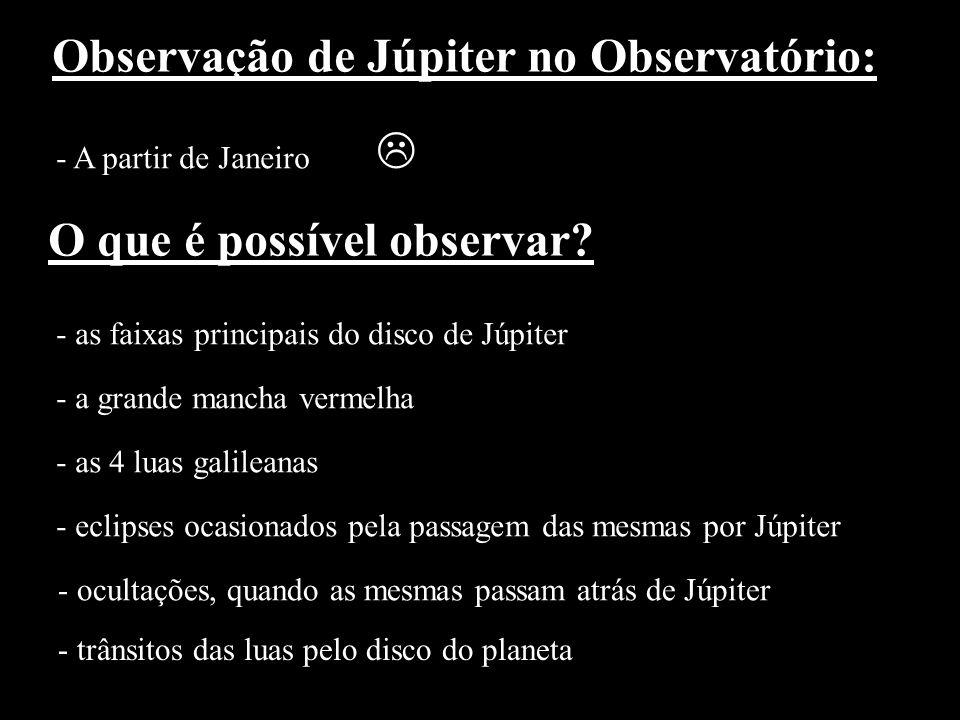 Observação de Júpiter no Observatório: