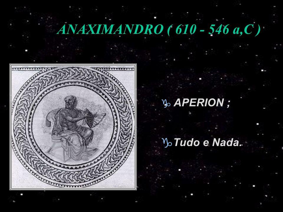 ANAXIMANDRO ( 610 - 546 a,C ) APERION ; Tudo e Nada.