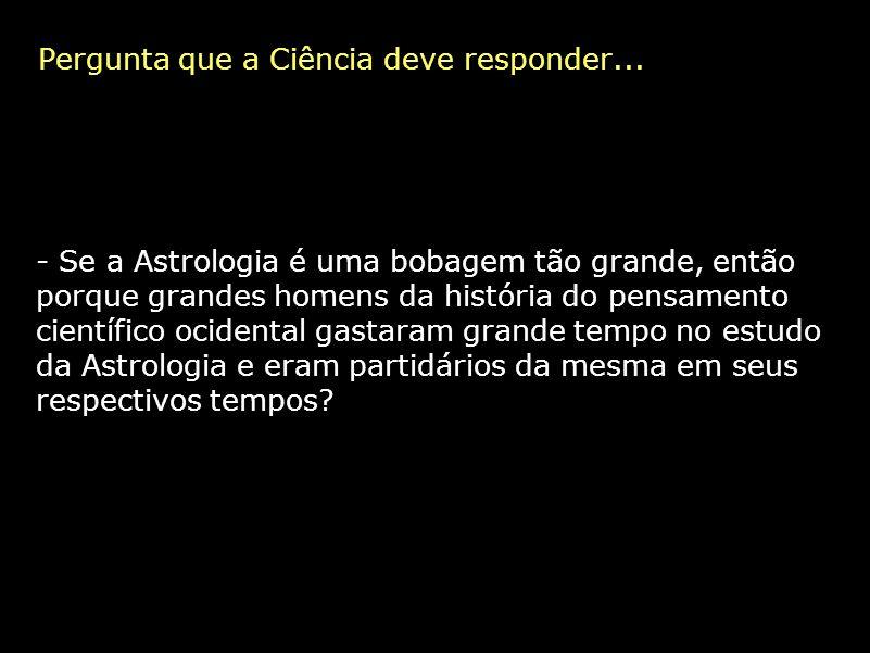 Pergunta que a Ciência deve responder...