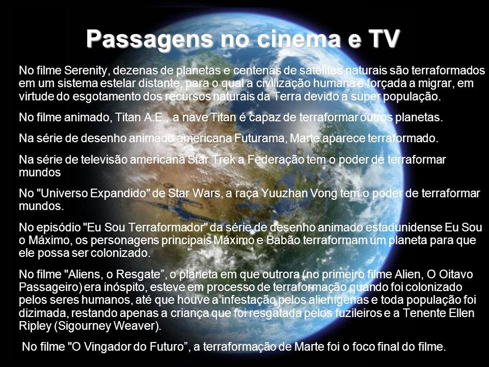 Passagens no cinema e TV