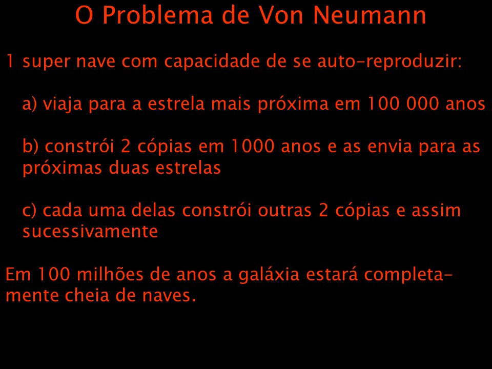 O Problema de Von Neumann