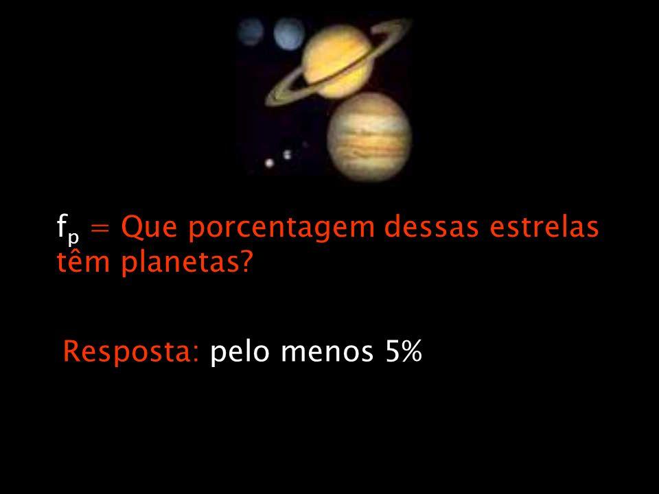 fp = Que porcentagem dessas estrelas