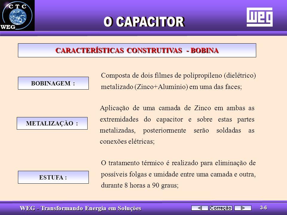 CARACTERÍSTICAS CONSTRUTIVAS - BOBINA