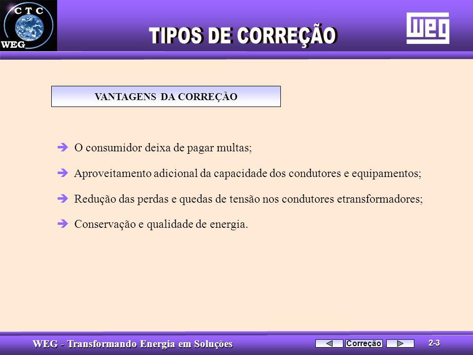 TIPOS DE CORREÇÃO O consumidor deixa de pagar multas;