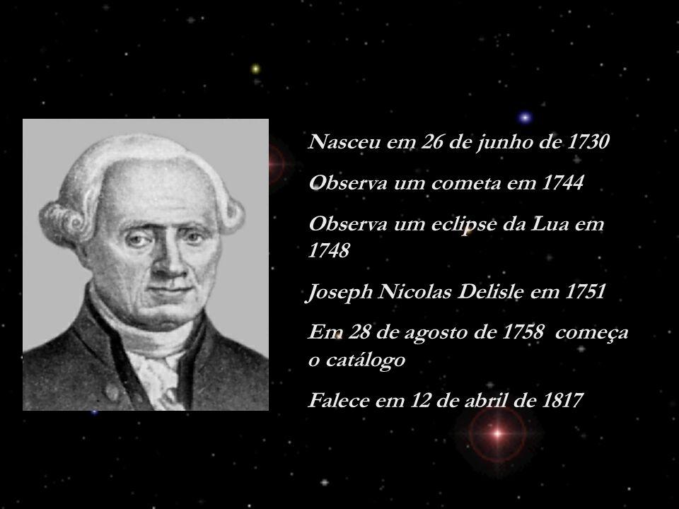 Nasceu em 26 de junho de 1730 Observa um cometa em 1744. Observa um eclipse da Lua em 1748. Joseph Nicolas Delisle em 1751.