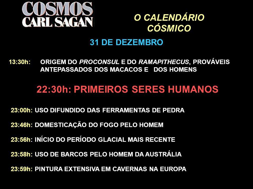 22:30h: PRIMEIROS SERES HUMANOS