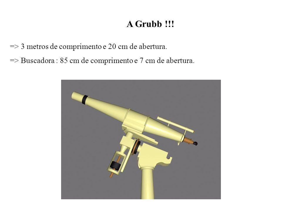 A Grubb !!! => 3 metros de comprimento e 20 cm de abertura.