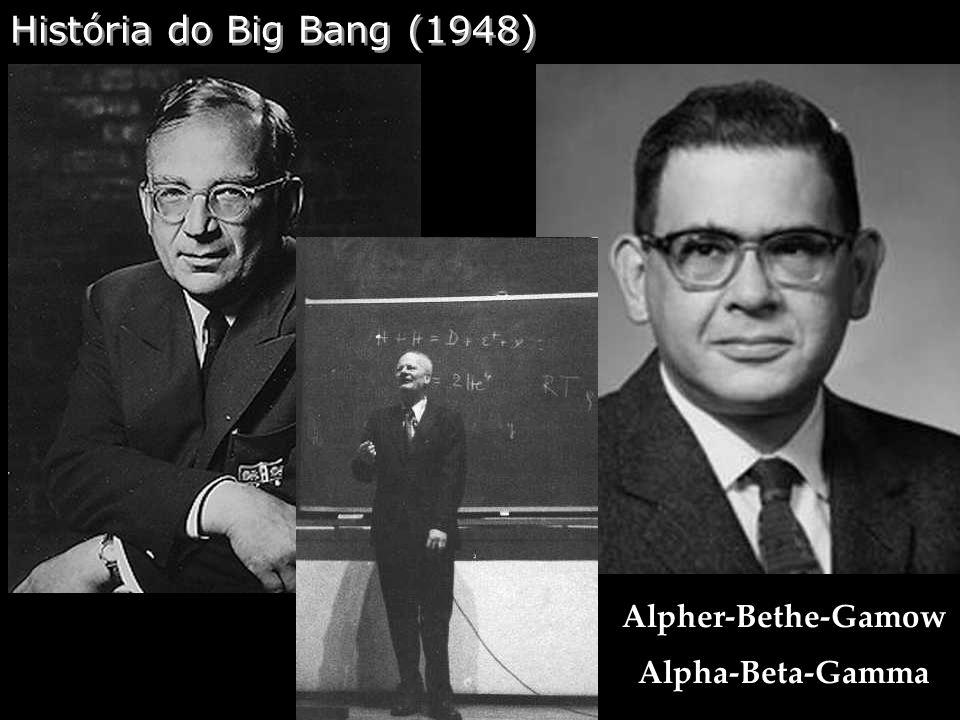 História do Big Bang (1948) Alpher-Bethe-Gamow Alpha-Beta-Gamma
