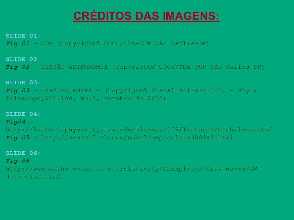 CRÉDITOS DAS IMAGENS: SLIDE 01: