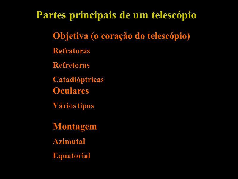 Partes principais de um telescópio