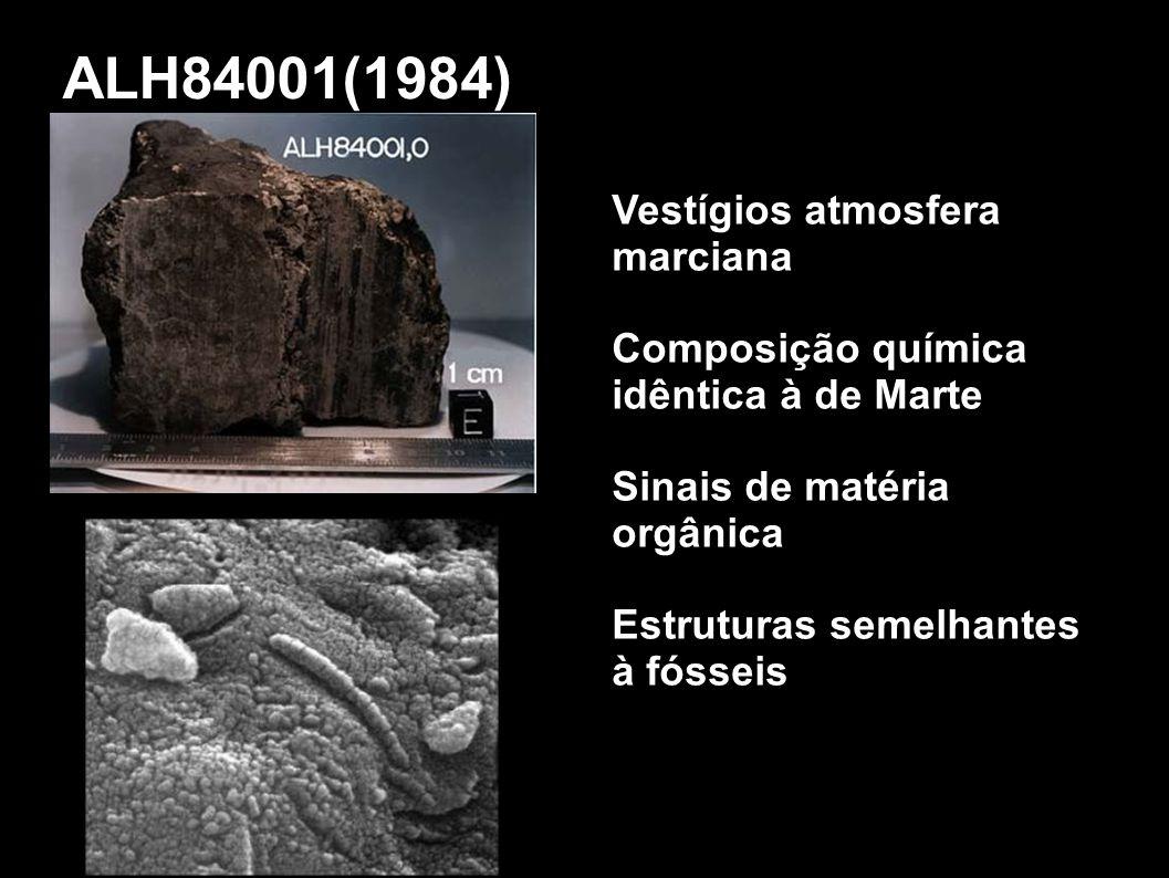 ALH84001(1984) Vestígios atmosfera marciana
