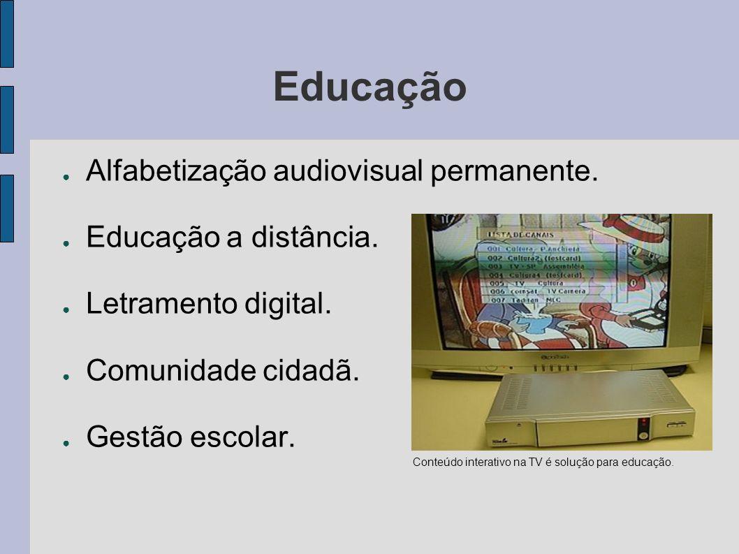 Educação Alfabetização audiovisual permanente. Educação a distância.