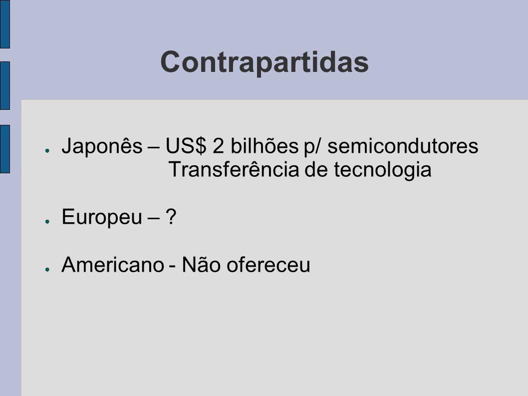 Contrapartidas Japonês – US$ 2 bilhões p/ semicondutores