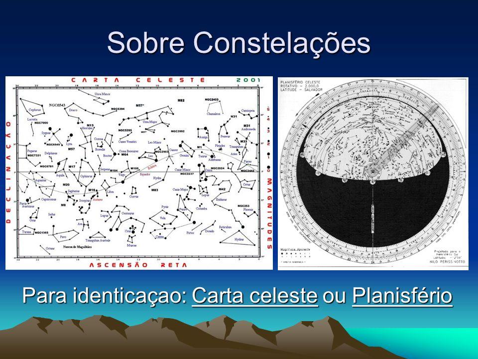 Para identicaçao: Carta celeste ou Planisfério
