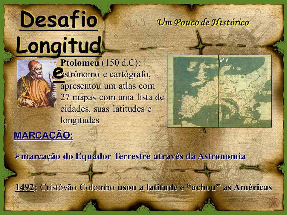 1492: Cristóvão Colombo usou a latitude e achou as Américas