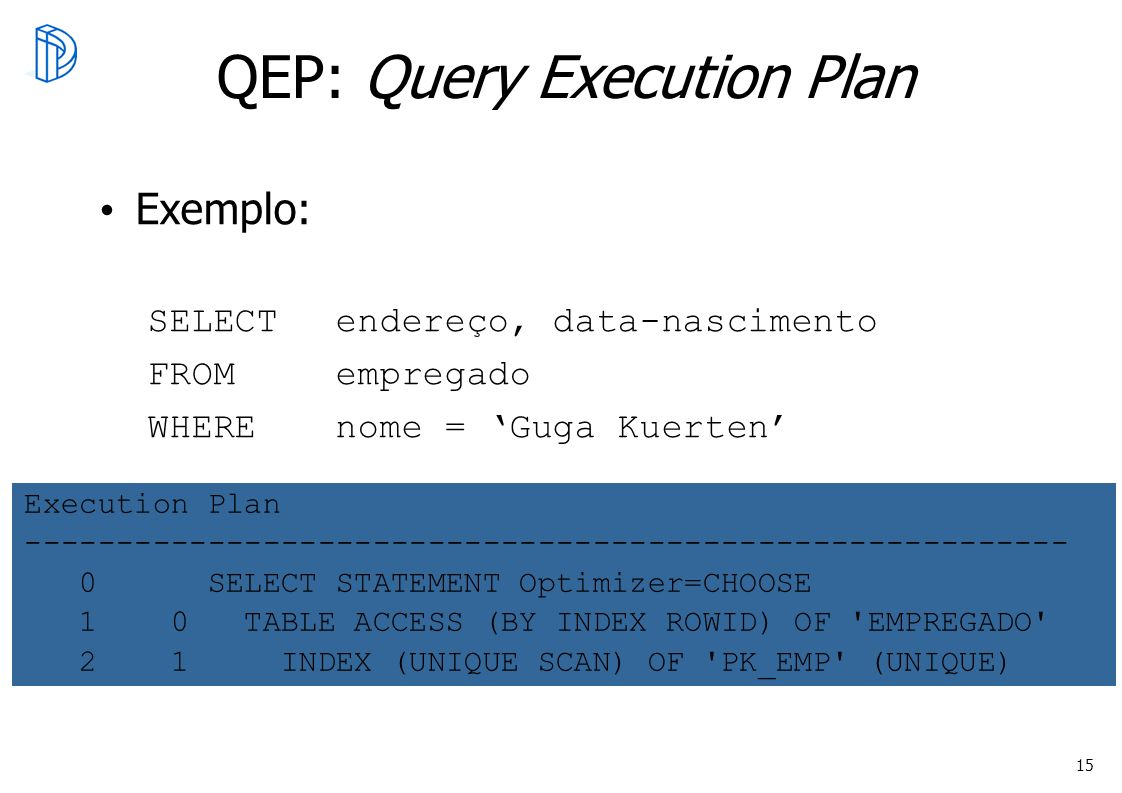 QEP: Query Execution Plan