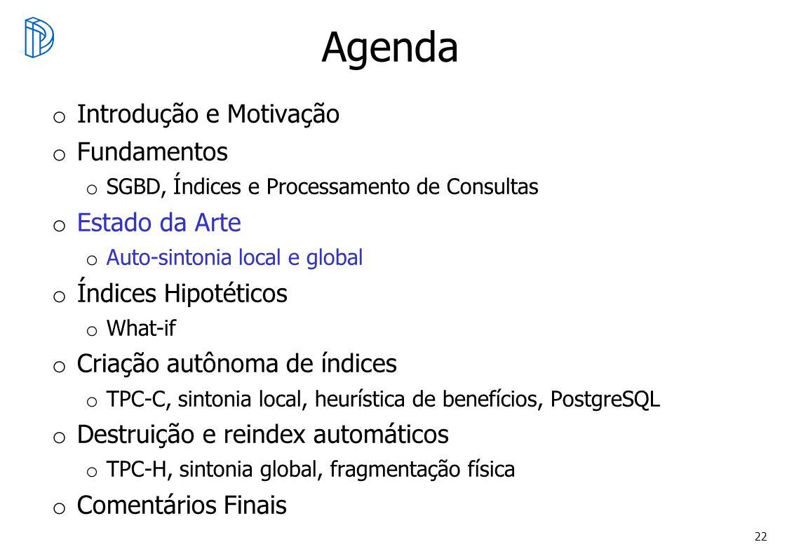 Agenda Introdução e Motivação Fundamentos Estado da Arte