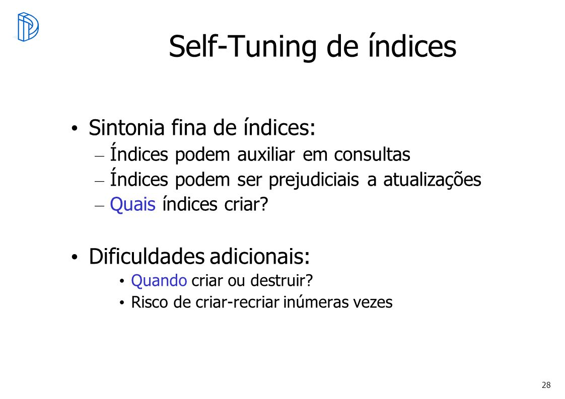 Self-Tuning de índices