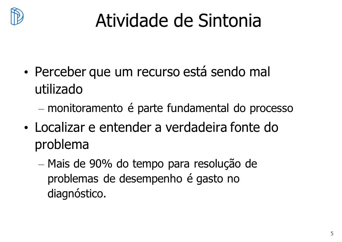 Atividade de Sintonia Perceber que um recurso está sendo mal utilizado