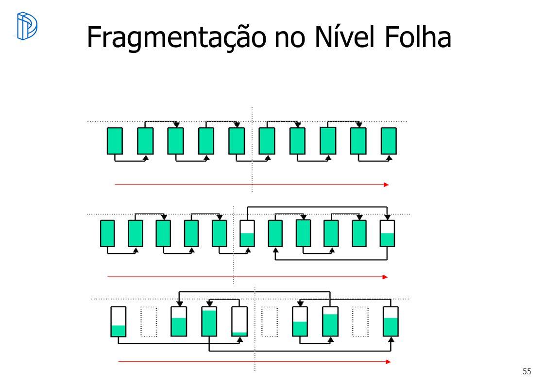 Fragmentação no Nível Folha