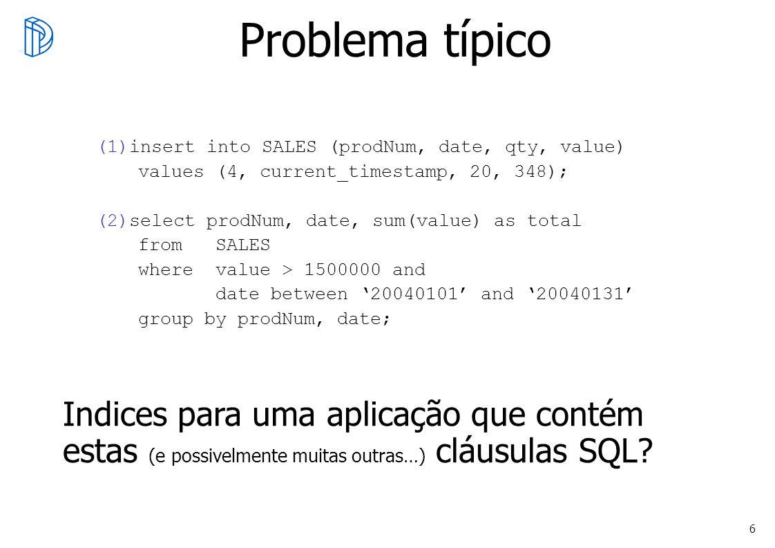Problema típicoinsert into SALES (prodNum, date, qty, value) values (4, current_timestamp, 20, 348);