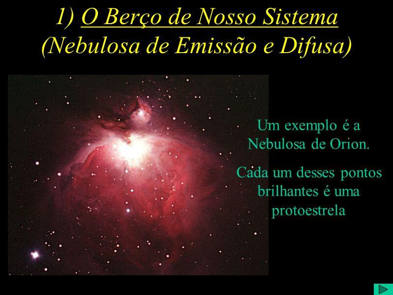 1) O Berço de Nosso Sistema (Nebulosa de Emissão e Difusa)