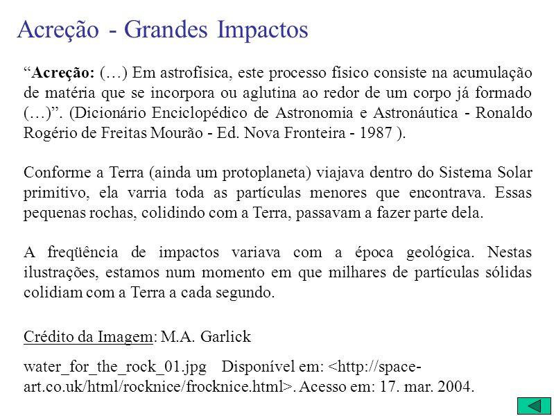 Acreção - Grandes Impactos