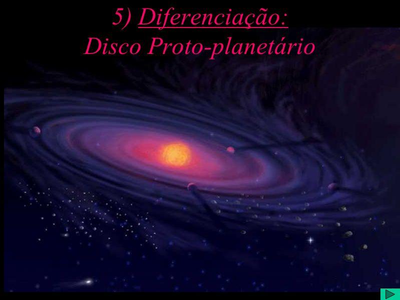 5) Diferenciação: Disco Proto-planetário
