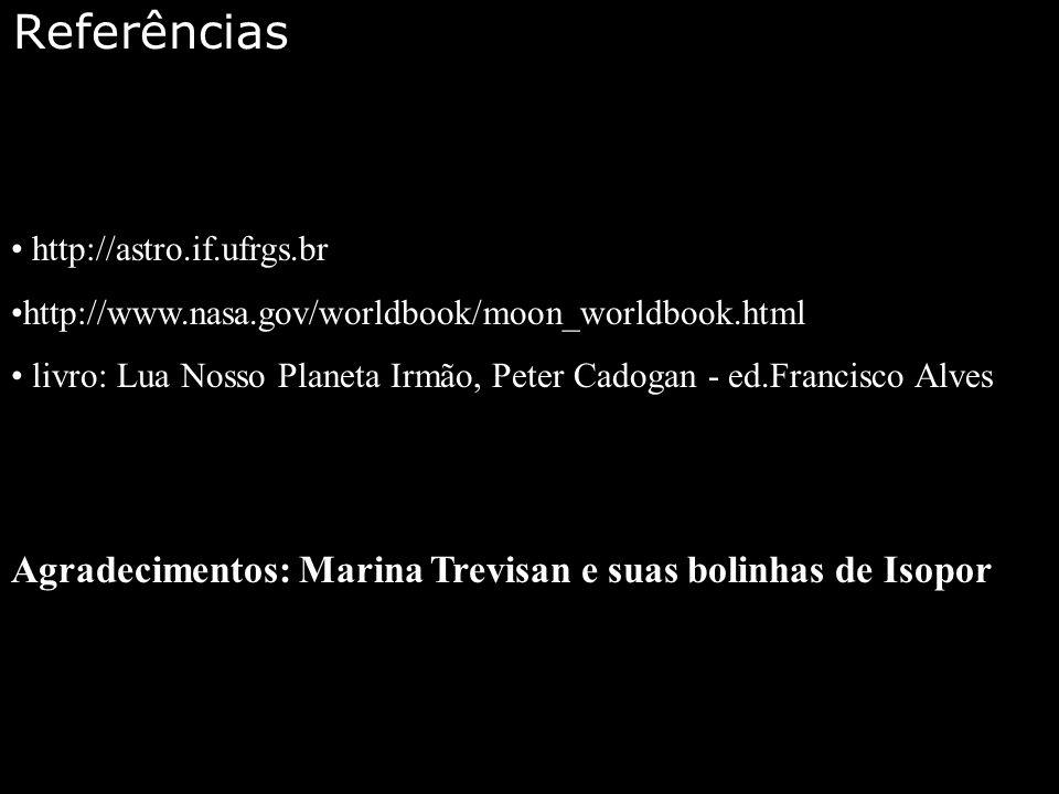 Referências Agradecimentos: Marina Trevisan e suas bolinhas de Isopor