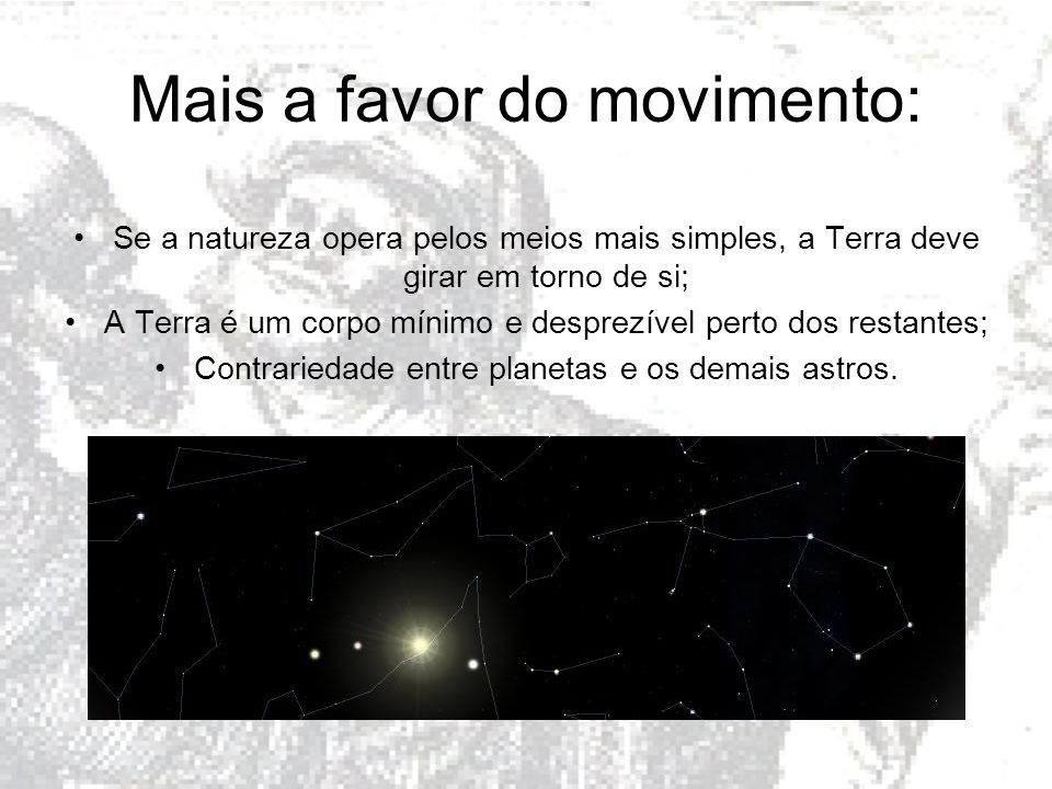 Mais a favor do movimento: