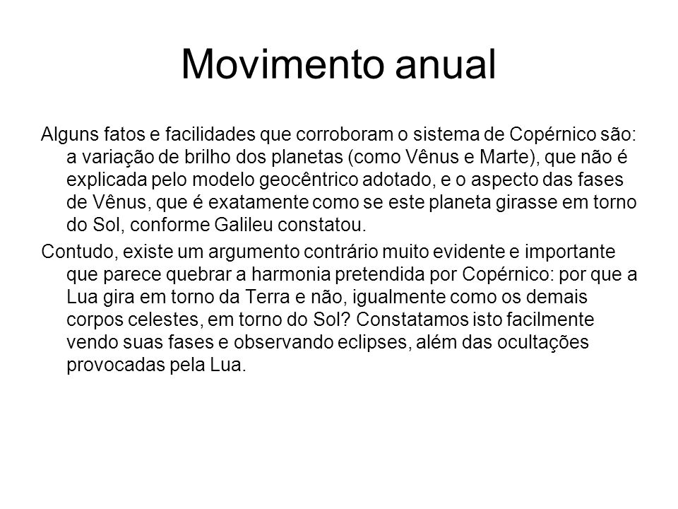 Movimento anual