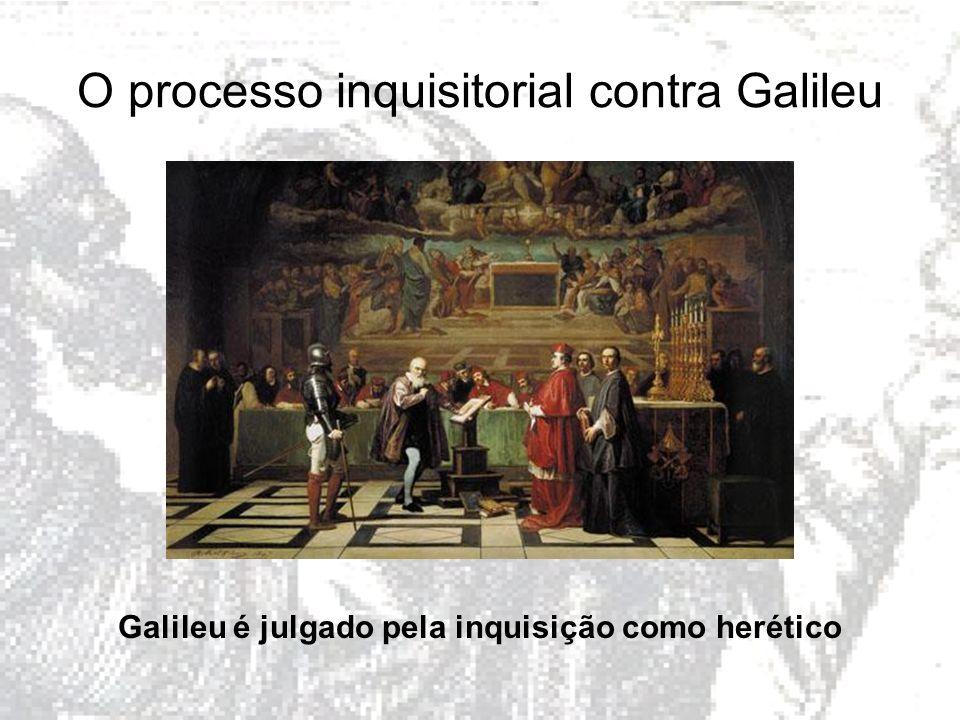 O processo inquisitorial contra Galileu